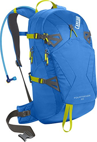 Pack Sac d'hydratation Fourteener 20 INTL, Tahoe Bleu / Lime Punch, 55 x 28 x 20 cm, 17 litres, 62 367