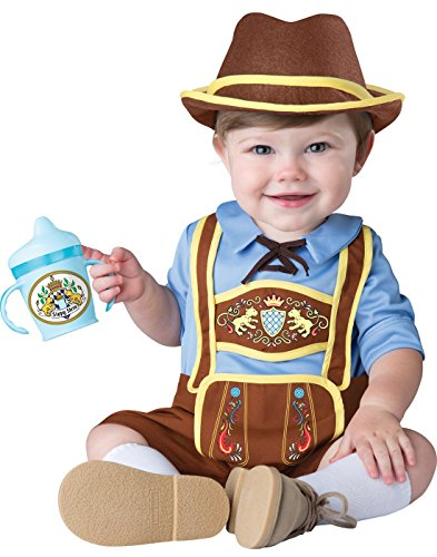 InCharacter Costumes Baby Boys' Little Lederhosen Costume, Blue/Brown, Medium