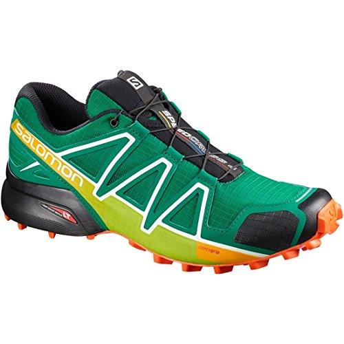 Salomon Speedcross 4 GTX, Zapatillas de Trail Running Hombre, Verde (Ultramarine Green/Black/Scarlet Ibi), 49 1/3 EU