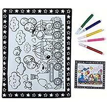 DIY Kids Painting Coloring Palette Tavolo da disegno concavo-convesso con penne [Train]