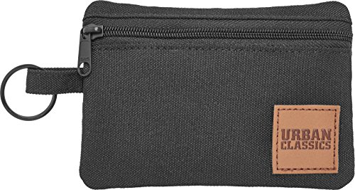 Urban Classics Mini Wallet With Keyring Münzbörse, 12 cm, Black -