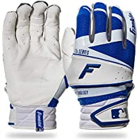 Franklin Sports - Guantes de bateo Freeflex Pro Series, Color White/Royal, tamaño Youth S