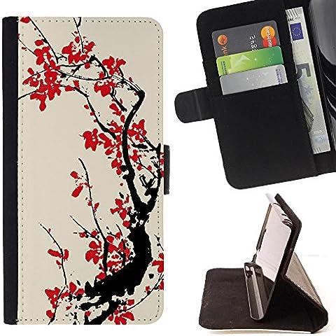 Momo Phone Case / Protettiva Custodia Flip Wallet in pelle