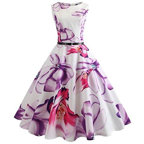 2018 Neu!Damen Vintage Kleid Yesmile Mode Rockabilly Retro 50s Hepburn Kleid Cocktail Rockabilly...