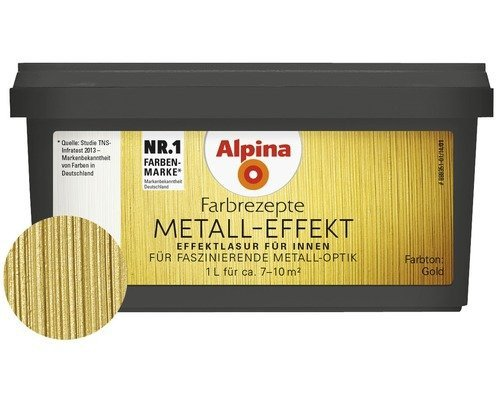 Alpina Tim Maelzer Farbrezepte Metall Accent Gold 1 l (Gold-metallic-wandfarbe)