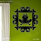 Halloween vinyl wall sticker Frame #3 Toad portrait vinyl lettering decal home decor wall art sticker frog (Large 22x22)