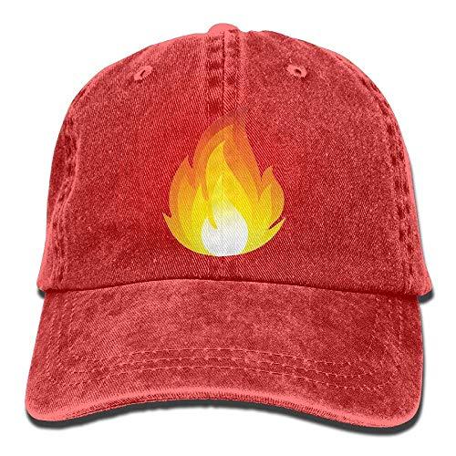 Unisex Washed Retro Denim Hats Fire Flames Burning Truck Driver Hat Casual Adjustable Lightweight Breathable Baseball Cap Snapback Trucker Hat Basecap Snapback Outdoor Baseball Kappe (Racing Hat Ford)