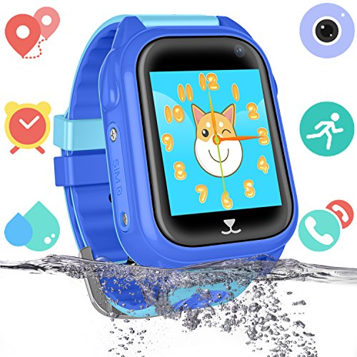 GPS Localizador Smartwatch para Niño Niña - IP67 Impermeable Relojes Telefono Conversación...
