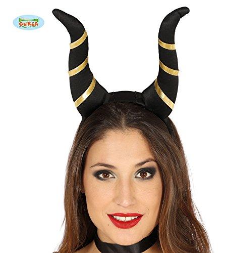 er Hexe für Erwachsenel Harreif Teufelshörner Dämon Halloween Horror Satan (Halloween Schwarze Hörner)