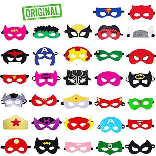 Take inspire ® | maschere supereroi bambini e adulti | feste in maschera cosplay | regalini fine festa compleanno | kit 32 pezzi