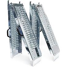 """2x Plegable rampa de carga galvanizado acero portátil patinete Quad ATV 73 x 8,8 """"882Lbs"""