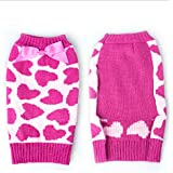 Pet Puppy Dog Clothes Puppy Warm Clothes Dogs Knitted Jumper Sweater Coat XS/S/M/L