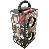 One Direction 1D0283 - Altavoz portátil recargable para fiestas con conector de 3.5 mm, color negro