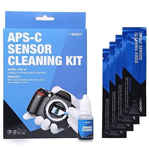 Fotocamera digitale professionale Kit di pulizia 12 tamponi di sensore e 15ml Detergenti liquidi sensore per Nikon Canon Sony Pentax Olympus e Altre