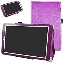 """Alcatel Onetouch PIXI 3 (10) Funda,Mama Mouth Slim PU Cuero Con Soporte Funda Caso Case para 10.1"""" Alcatel One Touch Pixi3 10 Android Tablet,Púrpura"""