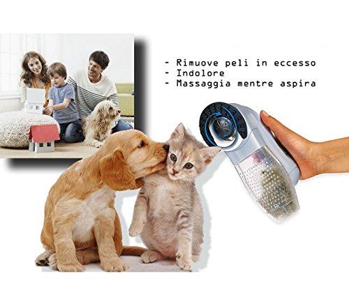 Tosatrice 2 in 1 rimuove peli in eccesso mentre massaggia per cane e gatto SHED indolore. MWS
