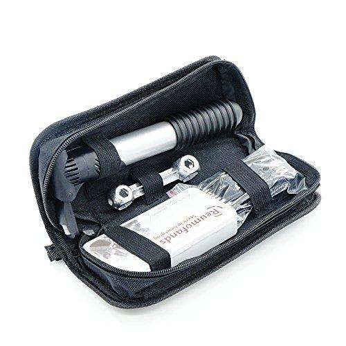 Preisvergleich Produktbild Xcellent Global Multifunktionales Fahrrad Gummireifen Reparatur Werkzeug-Set Komplettes Set Mit Tragbarer Mini Pumpe, Silber FS032