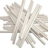 "50 89mm (3.5"") White Plastic Lollipop Sticks for Cake Pops and Lollies"