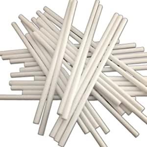 """50 89mm (3.5"""") White Plastic Lollipop Sticks for Cake Pops and Lollies"""
