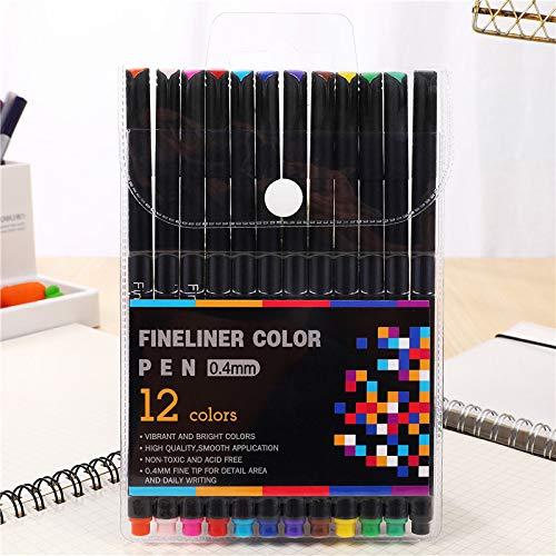 Pennarello a vernice permanente permanente a 12 colori per scrivere su pneumatici in vetro-legno 12 pezz