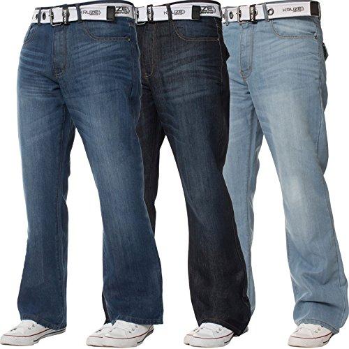 Jeans stonewashed 145cm ca Stretch mittel blau