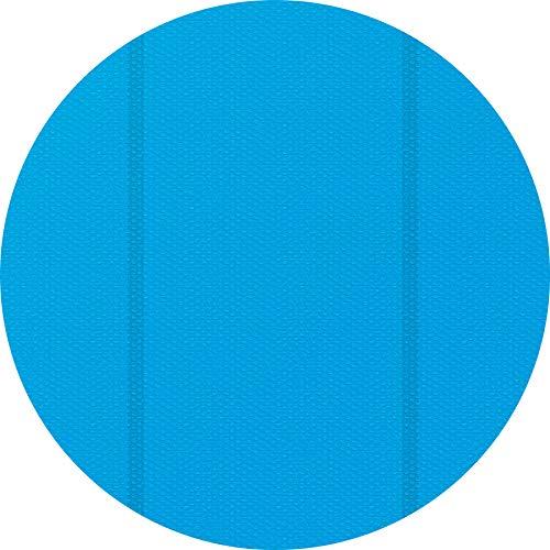 TecTake 800712 Pool Solarabdeckplane, schnellere Wassererwärmung & geringere Wasserverdunstung, rund, blau - Diverse Größen - (3 m | Nr. 403107)