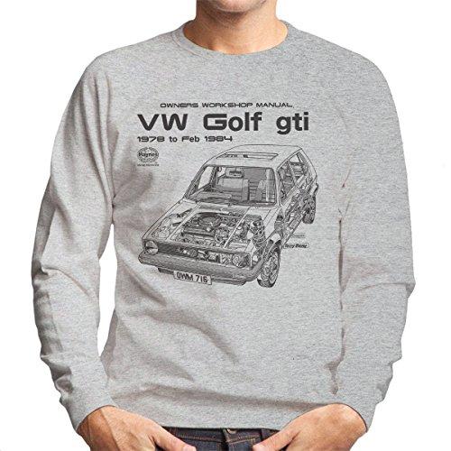 Haynes Owners Workshop Manual VW Golf GTI Sport 78 to 84 Black Men's Sweatshirt (Sweatshirt Golf Classic)