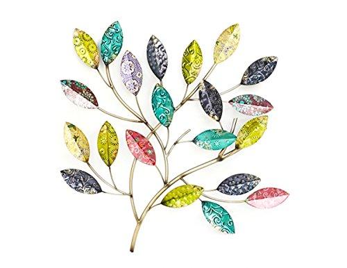 Immagine della parete decorazione da parete cespuglio foglie in metallo-H49cm