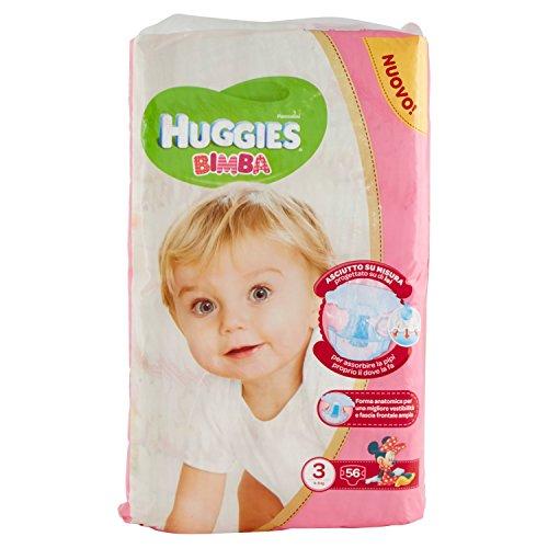 Huggies - Bimba - Pañales - Talla 3 (4-9 kg) - 56 pañales