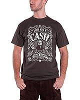 Johnny Cash Herren T Shirt Dark Grau Don't Take Your Guns To Town offiziell