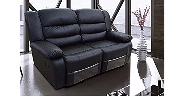 New Romano 2 Seater Sofa Recliner Bonded Leather Black Amazon Kitchen & Home Minimalist - Style Of leather sofa recliners Plan