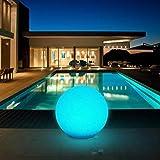 Solarlampen für Außen, Solar Kugelleuchten Außen Durchmesser 30cm mit 8 Verstellbarer Farben, LED Solar Gartenleuchte Wasserdichte IP67, Leuchtdauer 8 Stunden, Kealive