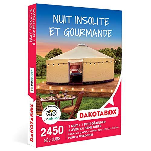 DAKOTABOX - Nuit insolite et gourmande - Coffret Cadeau Séjour Gourmand - 1 nuit...