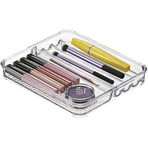 mDesign Vassoio Organizzatore Cosmetici per Armadietti, per Tenere Spazzole del