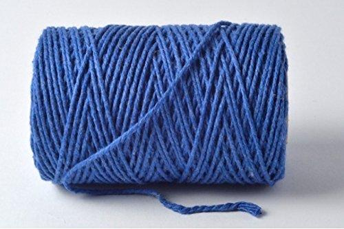 Bleu roi 100% coton Ficelle – 10 metres Longueur de coupe par Cranberry Card Company