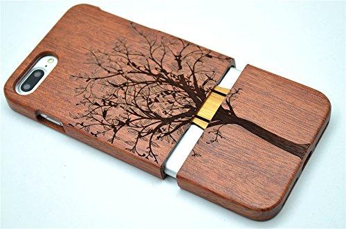 RoseFlower® iPhone 7 / iPhone 8 (4,7 Zoll (11,9 cm) Holzhülle - Palisander-Weihnachtsbaum - NatürlicheHandgemachteBambus / Holz Schutzhülle Palisander-Weihnachtsbaum