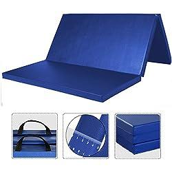WolfWise 180x120 cm Colchoneta Gimnasia Deportiva Alfombra Yoga Colchoneta de espuma EPP Ejercicio Extra Gruesa De 5cm De Espesor, Azul