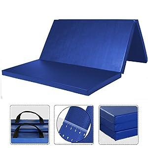 WolfWise 120 x 180 cm Weichbodenmatte, Klappbare Fitnessmatte Gymnastikmatte...