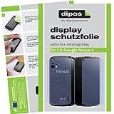 dipos I 4X Schutzfolie matt passend für LG Google Nexus 4 Folie Displayschutzfolie (2X Vorder- & 2X Rückseite)
