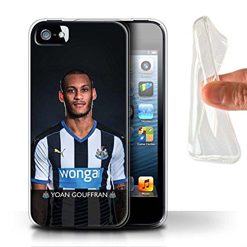 Officiel Newcastle United FC Coque / Etui Gel TPU pour Apple iPhone SE / De Jong Design / NUFC Joueur Football 15/16 Collection Gouffran
