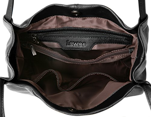 Iswee, Borsa a mano donna Black