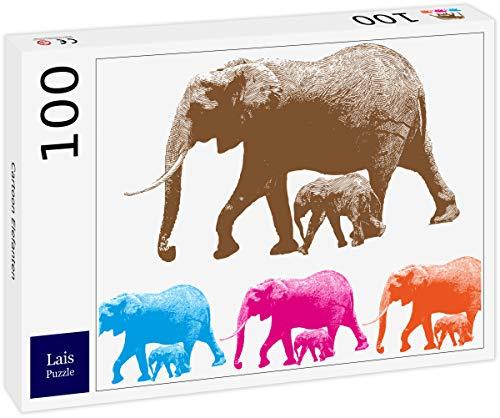 Lais Puzzle Elefante de Dibujos Animados 100 Piezas