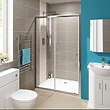 1200 mm Modern Sliding Glass Cubicle Door Bathroom Alcove Shower Enclosure