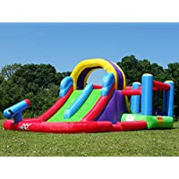 BeBopTotal Wipeout Bouncy Castle and Inflatable Water Slide Combo