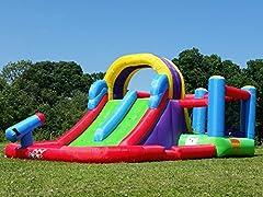 Idea Regalo - BeBop doppio Splash e Slide Castello gonfiabile con acqua scivolo