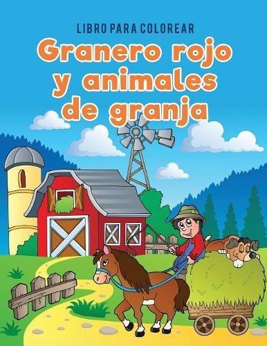 Libro para colorear granero rojo y animales de granja por Coloring Pages for Kids