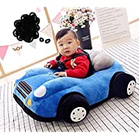 AVSHUB Car Shape Baby Supporting Seat Soft Plush Cushion and Chair for Kids/Baby - Blue