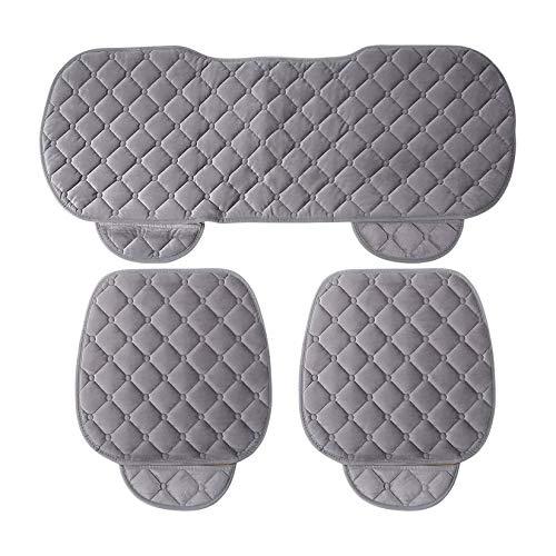 Zengbuks 3 pezzi/set universale confortevole in cotone morbido quadrato cuscino del sedile auto anteriore schienale coprisedili auto sedia pad mat auto forniture
