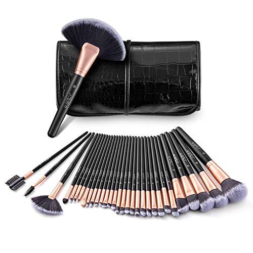 uspicy pennelli make up 32 pezzi con borsetta da viaggio pennelli cosmetici trucco spazzola professionale, brushs per ombretto, alta qualità, make up set, regalo - oro