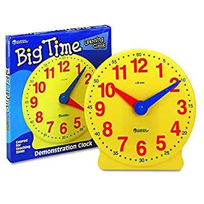 Learning Resources Big Time 12-Hour Demonstration Learning Clock by Learning Resources